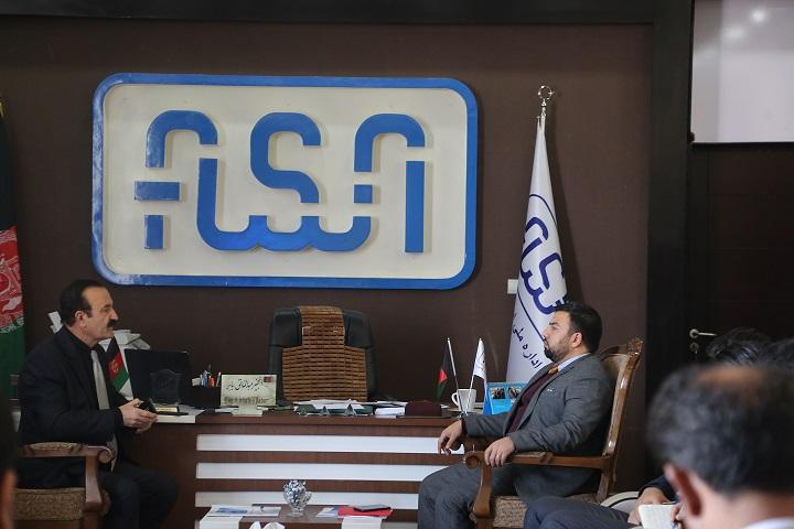 ملاقات هیئات رهبری اداره ملی ستندرد (انسا) با اداره نفت و گاز