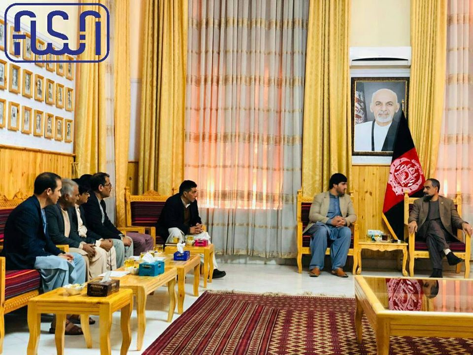 The Deputy Chief Along With delegation of the National Standard Authority Met With Herat Governor