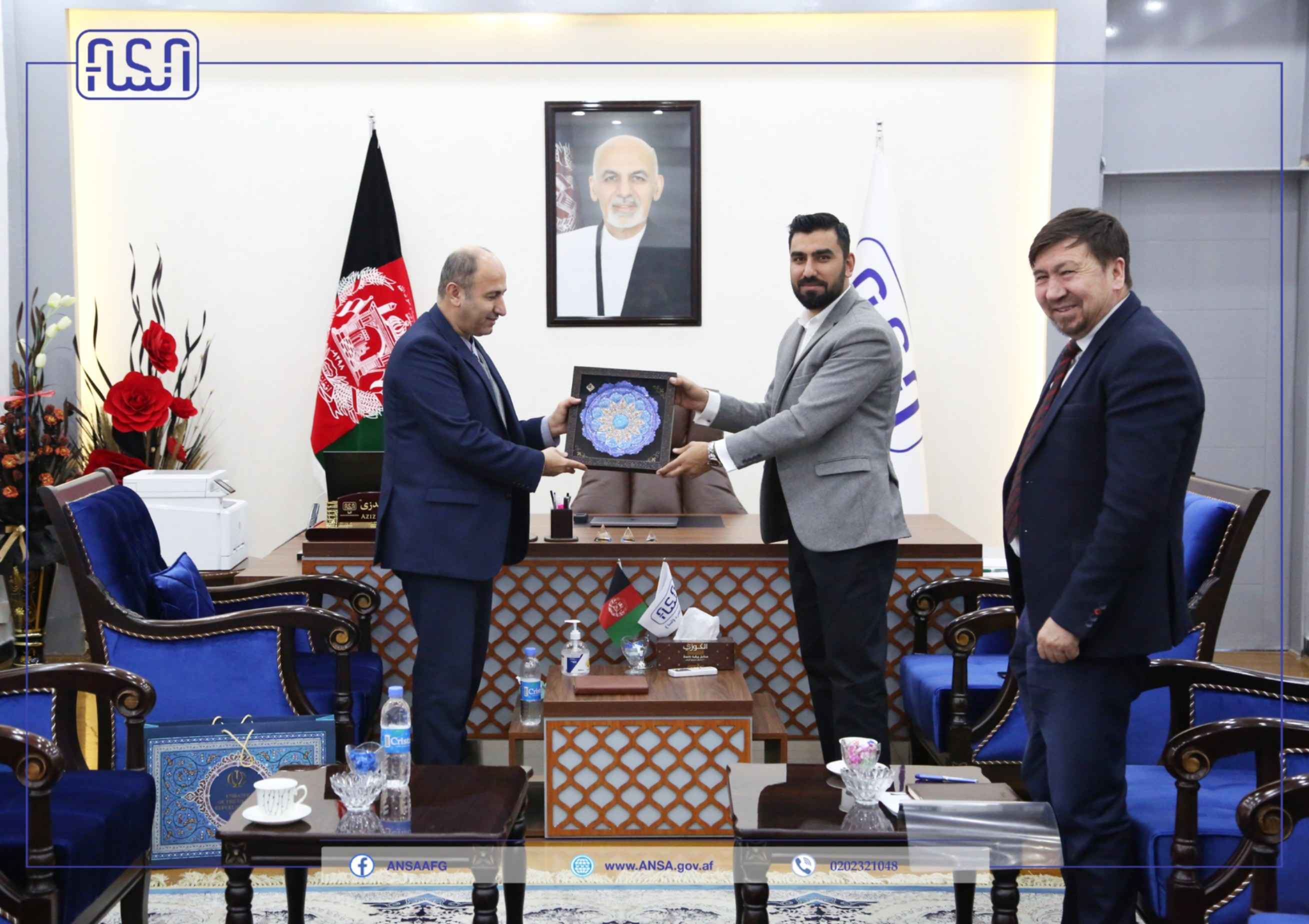 The Director General of Afghanistan National Standards Authority met with the Advisor to the Minister of Interior of Iran on the Joint Commission for Economic Cooperation between Afghanistan and Iran.