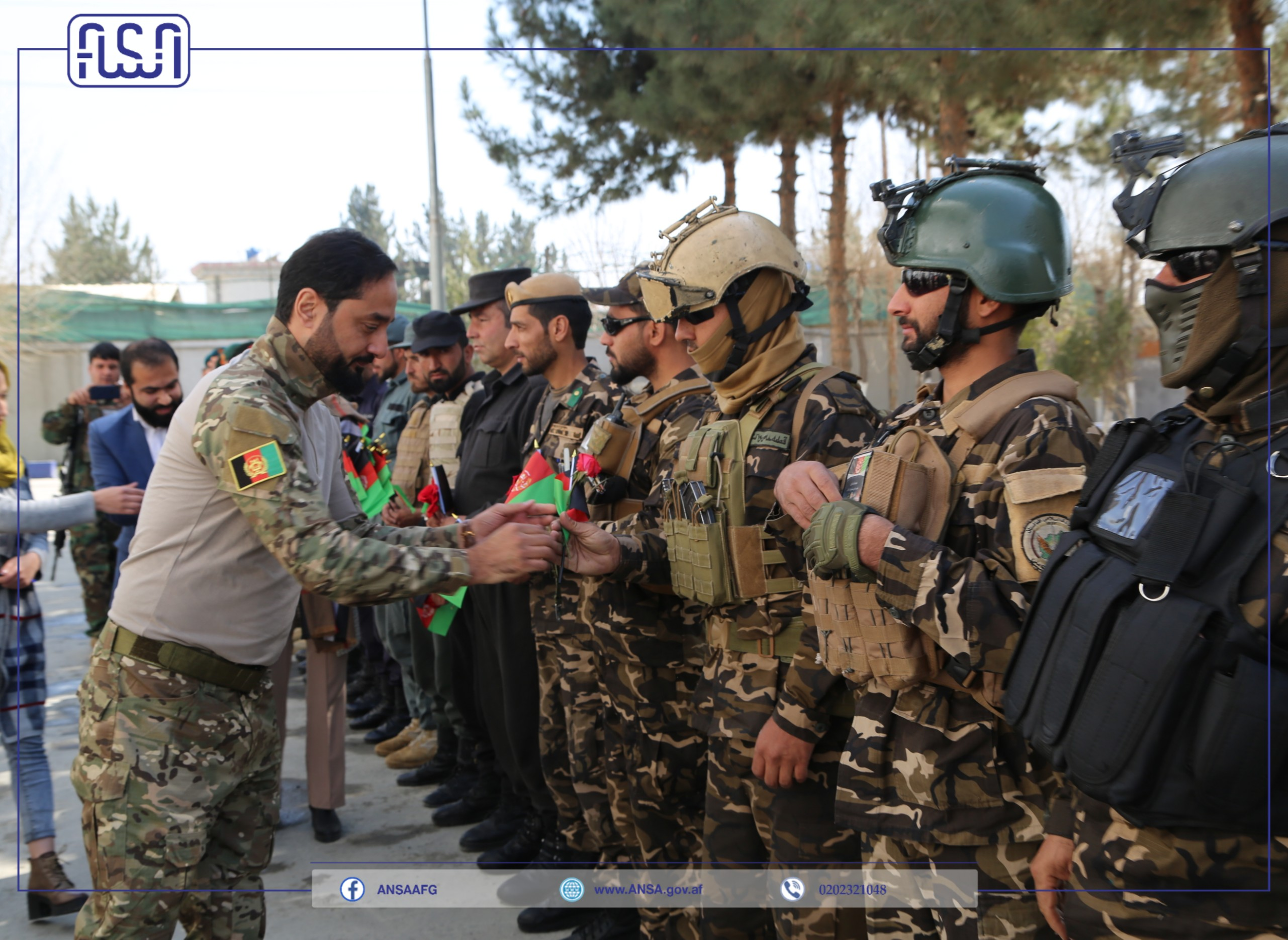 Afghanistan National Standards Authority celebrated national security defense forces day.