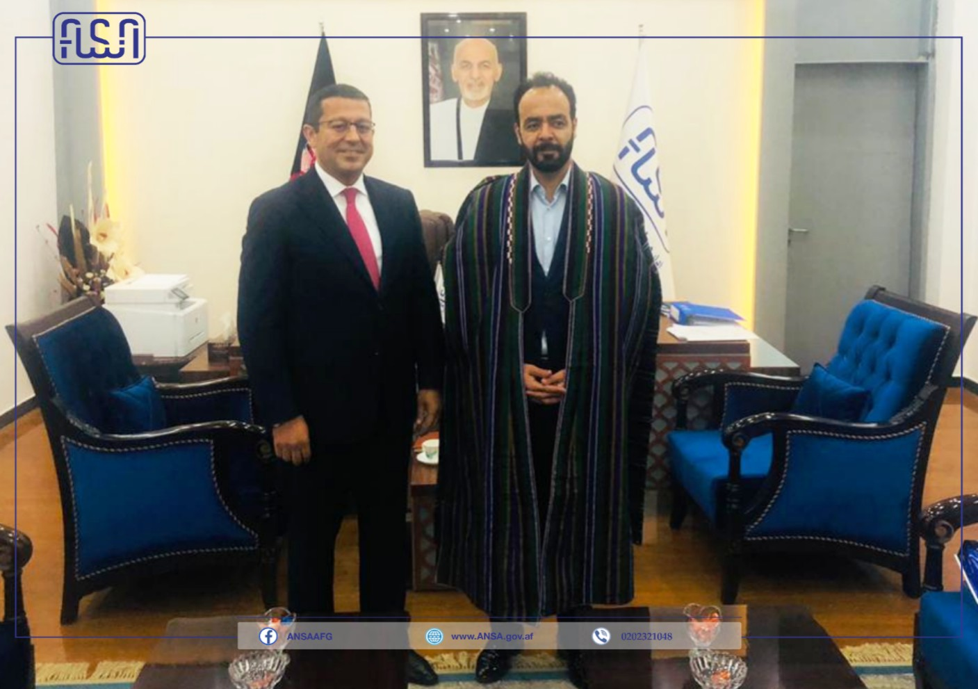 دیدار رئیس عمومی فدراسیون اتاق های افغانستان با رئیس عمومی اداره ملی ستندرد.