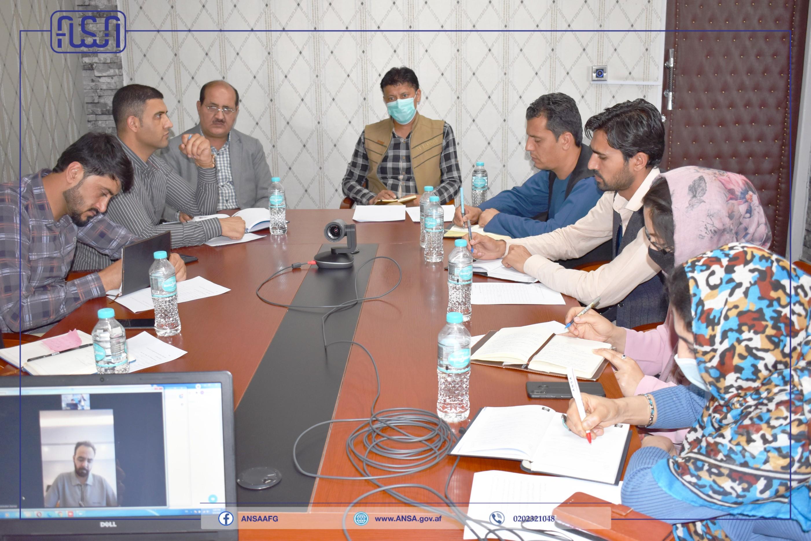 جلسه  مجازی به رهبری رئیس عمومی اداره ملی ستندرد تدویر یافت.