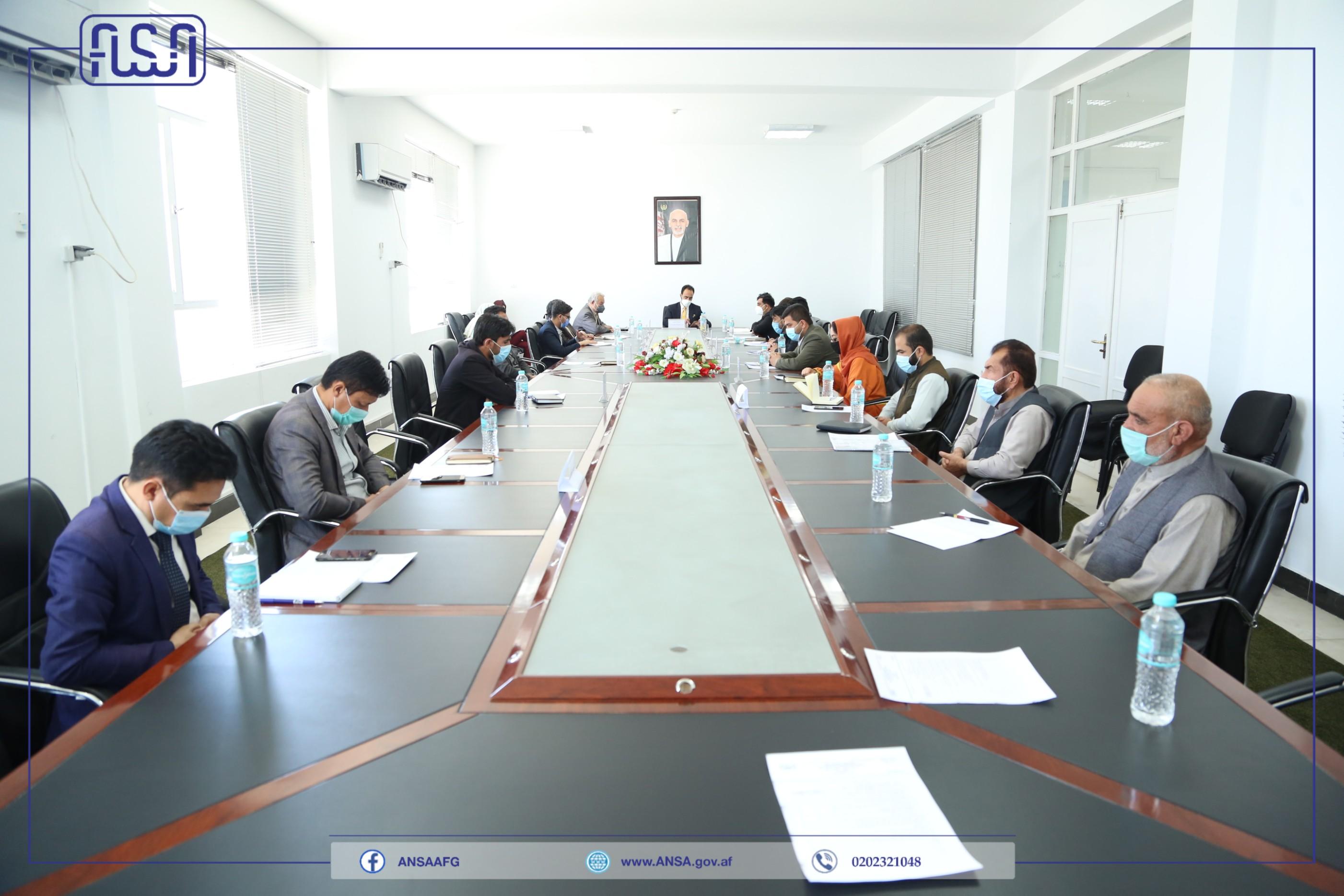 جلسه هئیت رهبری اداره ملی ستندرد تدویر یافت.