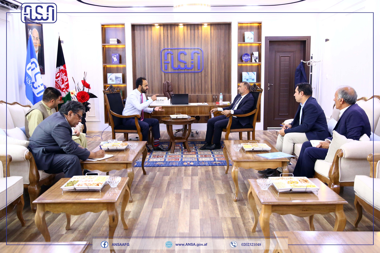 رئیس عمومی اداره ملی ستندرد با رئیس اتاق صنایع ومعادن افغانستان دیدار کرد.